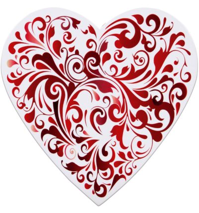 Red & White Chocolate Valentine's Heart