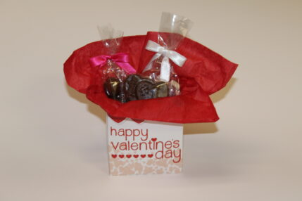 Valentine's Gift with Sour Hearts and Malt Balls